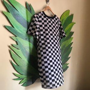 NWT Glamorous Checkered Sheer Punk/Mod shift dress